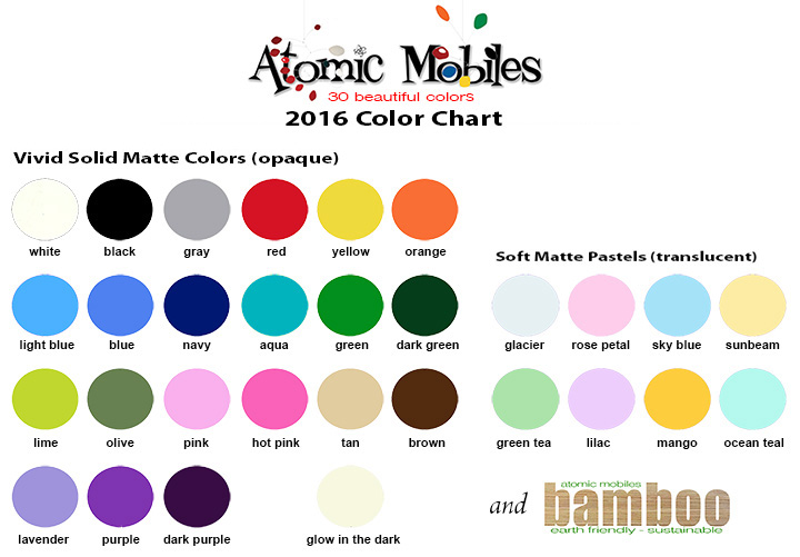 Atomic Mobiles Color Chart
