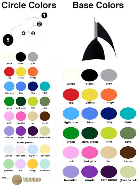 Moderne Custom Art Stabile Color Chart
